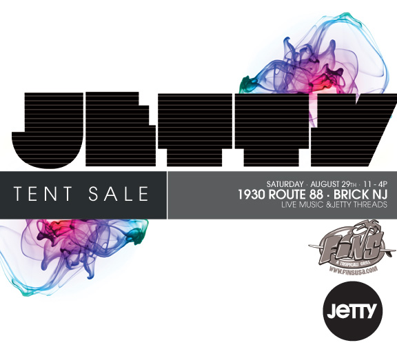 Jetty & Fins Tent Sale